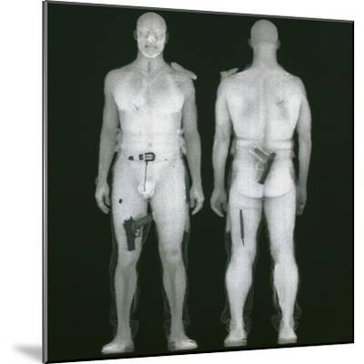 X-ray Views of Man During BodySearch Surveillance--Mounted Giclee Print