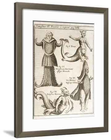 1662 Schott Sea Monsters And Mermaids-Stewart Stewart-Framed Giclee Print