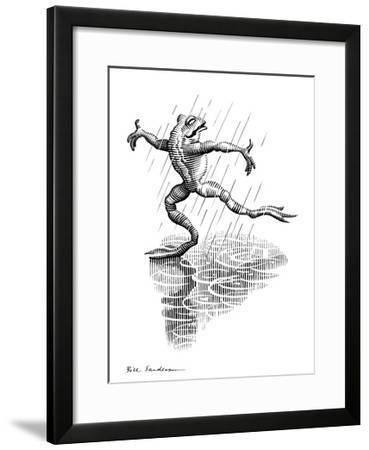 Dancing In the Rain, Conceptual Artwork-Bill Sanderson-Framed Giclee Print