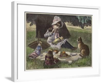 A Garden Party--Framed Giclee Print