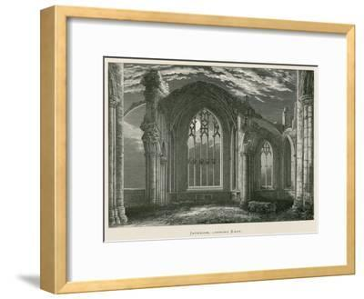 Melrose Abbey, Interior, Looking East-Alexander Francis Lydon-Framed Giclee Print