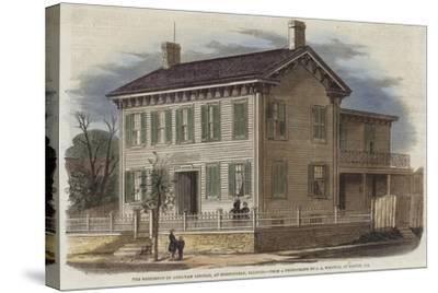 The Residence of Abraham Lincoln--Stretched Canvas Print