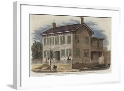 The Residence of Abraham Lincoln--Framed Giclee Print