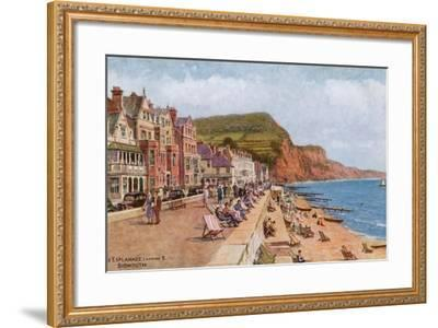 The Esplanade, Looking E, Sidmouth-Alfred Robert Quinton-Framed Giclee Print