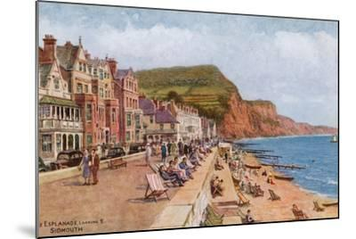 The Esplanade, Looking E, Sidmouth-Alfred Robert Quinton-Mounted Giclee Print