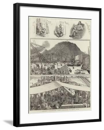Chinese Passengers from Singapore to Hong Kong--Framed Giclee Print