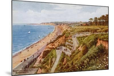 New Zig-Zag West Cliff, Bournemouth-Alfred Robert Quinton-Mounted Giclee Print