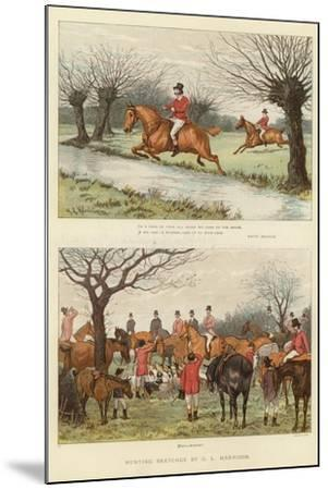 Hunting Sketches--Mounted Giclee Print