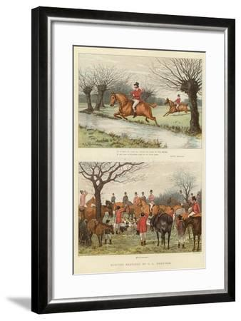 Hunting Sketches--Framed Giclee Print