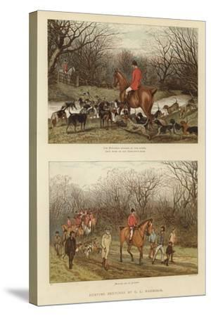 Hunting Sketches by G L Harrison--Stretched Canvas Print