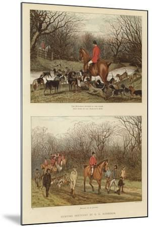 Hunting Sketches by G L Harrison--Mounted Giclee Print