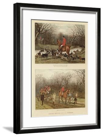 Hunting Sketches by G L Harrison--Framed Giclee Print