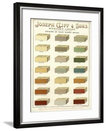 Page from the Architect's, Surveyor's and Engineer's Compendium 1892--Framed Giclee Print