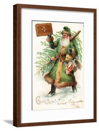 Father Christmas-German School-Framed Giclee Print