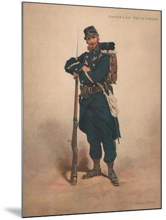 Chasseur a Pied, Tenue De Campagne--Mounted Giclee Print