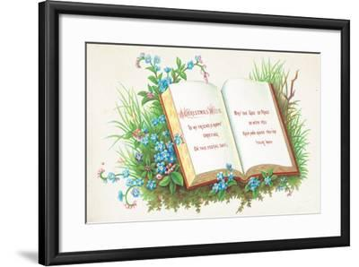 Open Book, Christmas Card-English School-Framed Giclee Print