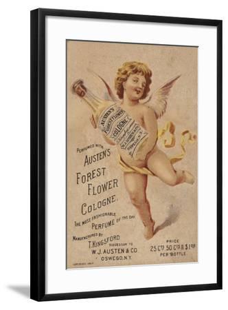 Cherub Holding Cologne Bottle--Framed Giclee Print
