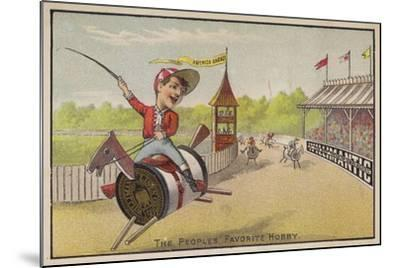 Horse Racing on Cotton Reels--Mounted Giclee Print