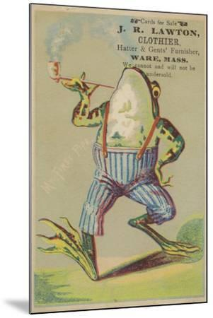 Dancing Frog with Pipe--Mounted Giclee Print