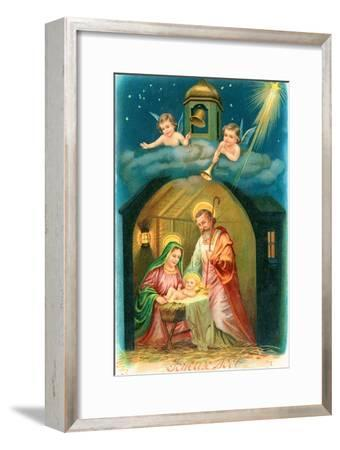 French Christmas Card--Framed Giclee Print