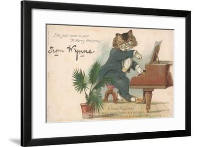 British Christmas Card--Framed Giclee Print