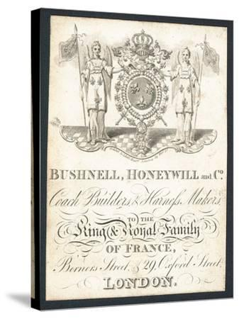 Bushnell, Honeywell and Co, Coach Builders and Harness Makers, Trade Card--Stretched Canvas Print