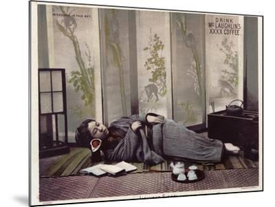 Japanese Siesta--Mounted Photographic Print