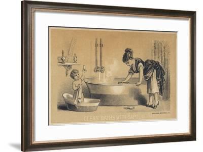 Clean Baths with Sapolio--Framed Giclee Print