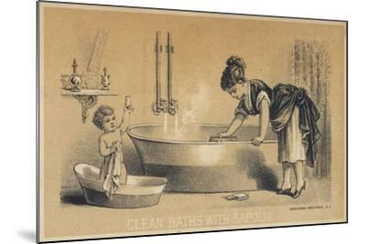 Clean Baths with Sapolio--Mounted Giclee Print