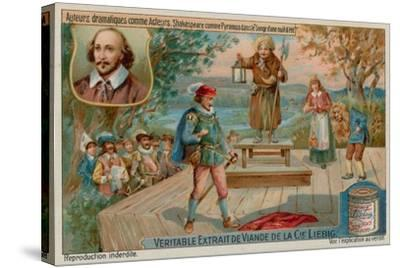William Shakespeare in a Midsummer Night's Dream--Stretched Canvas Print