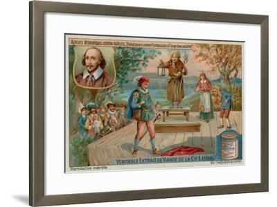 William Shakespeare in a Midsummer Night's Dream--Framed Giclee Print
