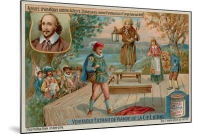 William Shakespeare in a Midsummer Night's Dream--Mounted Giclee Print
