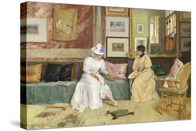 A Friendly Call, 1895-William Merritt Chase-Stretched Canvas Print