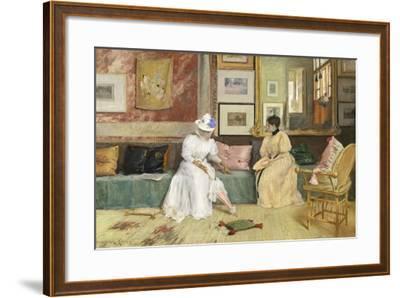 A Friendly Call, 1895-William Merritt Chase-Framed Giclee Print