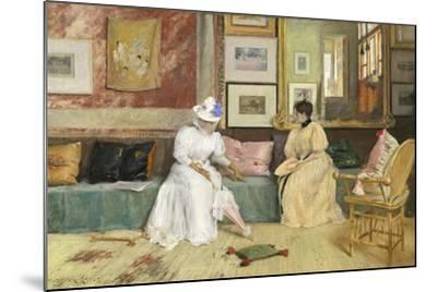 A Friendly Call, 1895-William Merritt Chase-Mounted Giclee Print