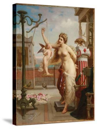 Weighing Cupid-Henri Pierre Picou-Stretched Canvas Print