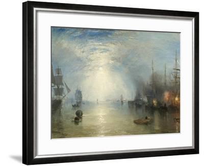 Keelmen Heaving in Coals by Moonlight, 1835-J^ M^ W^ Turner-Framed Giclee Print