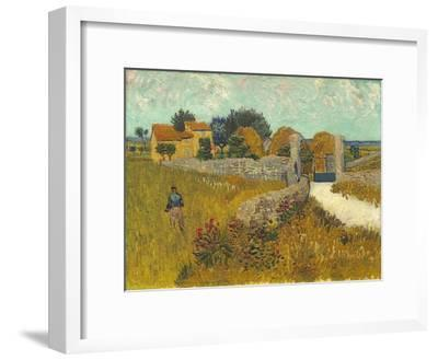 Farmhouse in Provence, 1888-Vincent van Gogh-Framed Premium Giclee Print