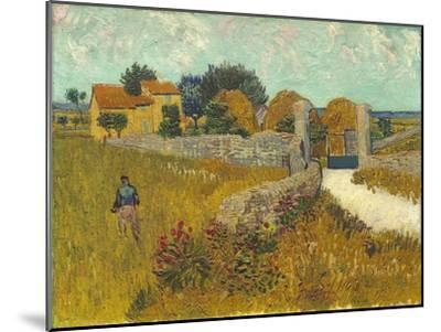 Farmhouse in Provence, 1888-Vincent van Gogh-Mounted Premium Giclee Print