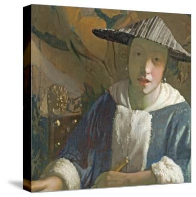 Young Girl with a Flute, C.1665-70-Johannes Vermeer-Stretched Canvas Print