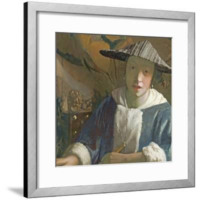 Young Girl with a Flute, C.1665-70-Johannes Vermeer-Framed Giclee Print
