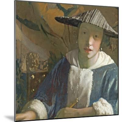 Young Girl with a Flute, C.1665-70-Johannes Vermeer-Mounted Giclee Print