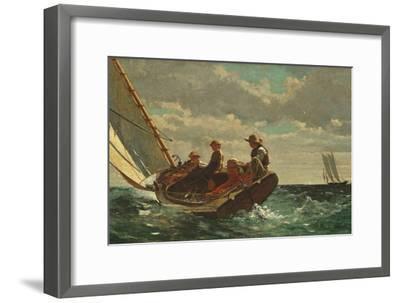 Breezing Up (A Fair Wind) 1873-76-Winslow Homer-Framed Premium Giclee Print