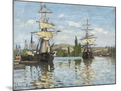 Ships Riding on the Seine at Rouen, 1872- 73-Claude Monet-Mounted Giclee Print