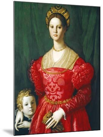 A Young Woman and Her Little Boy, C.1540-Agnolo Bronzino-Mounted Giclee Print