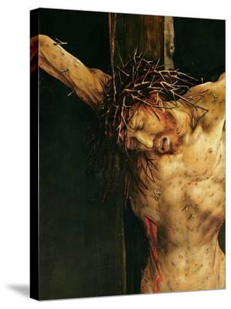 Christ on the Cross, Detail from the Central Crucifixion Panel of the Isenheim Altarpiece,…-Matthias Gr?newald-Stretched Canvas Print