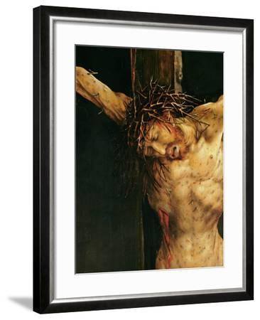Christ on the Cross, Detail from the Central Crucifixion Panel of the Isenheim Altarpiece,…-Matthias Gr?newald-Framed Giclee Print