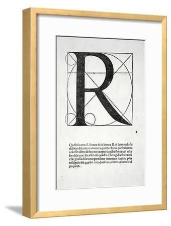 R, Illustration from 'Divina Proportione' by Luca Pacioli (C.1445-1517), Originally Pub. Venice,…-Leonardo da Vinci-Framed Giclee Print