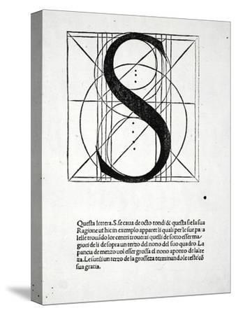 S, Illustration from 'Divina Proportione' by Luca Pacioli (C.1445-1517), Originally Pub. Venice,…-Leonardo da Vinci-Stretched Canvas Print