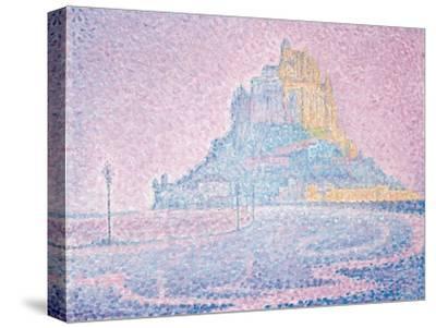 Mont Saint-Michel, Fog and Sun, 1897-Paul Signac-Stretched Canvas Print
